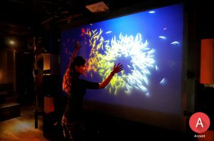 Interactive Accent Rear Projection Films