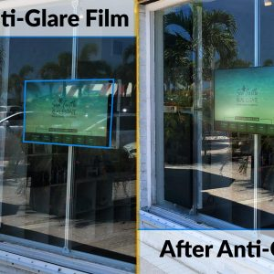 anti-glare film before and after