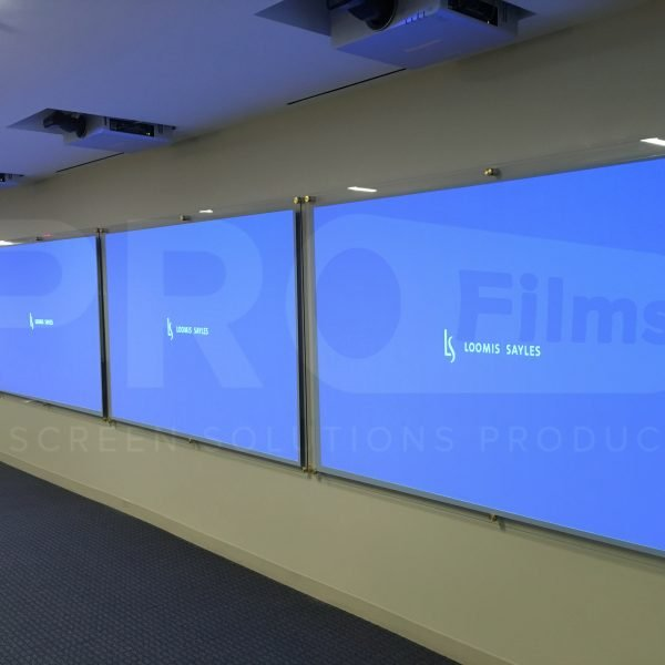 reflection film on 4 screens